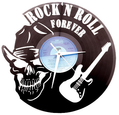 original schallplatten wanduhr 30cm rock n roll. Black Bedroom Furniture Sets. Home Design Ideas